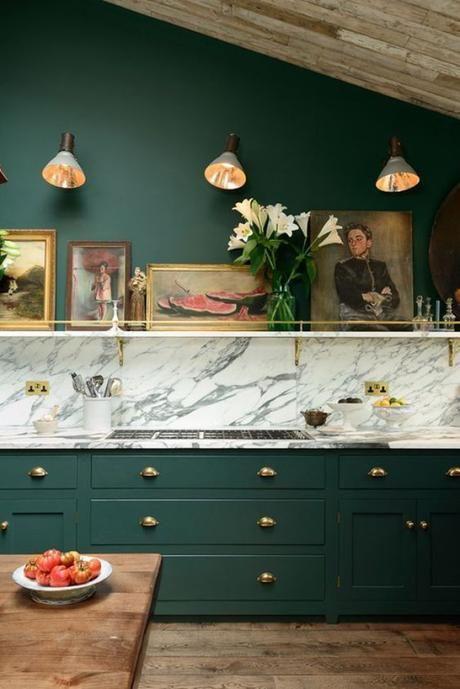 groene elementen keuken